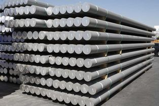 Aluminium Alloys - Aluminium billets stored