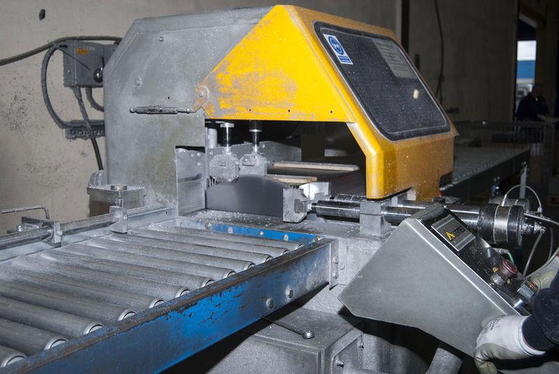 Aluminium Saw Cutting Aluminium Fabrication Bal Group Ltd
